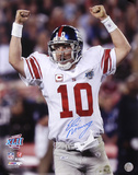 Eli Manning New York Giants - Super Bowl XLII Champions Autographed Photo (Hand Signed Collectable)