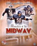 Bears MonstersMidway Butkus  Singletary  Urlacher Autographed Photo (Hand Signed Collectable)