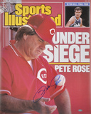 Pete Rose Cincinnati Reds - Sports Illustrated Cover Autographed Photo (Hand Signed Collectable)