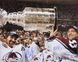 Patrick Roy & Ray Bourque Avalanche 2001 Stanley Cup Autographed Photo (Hand Signed Collectable)