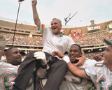 Don Shula Miami Dolphins - Carried Off Field Autographed Photo (Hand Signed Collectable)