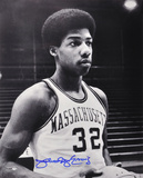Julius Erving Massachusetts Minutemen  Black and White