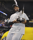 Jermaine Dye White Sox w/ MVP Trophy with WS MVP Autographed Photo (Hand Signed Collectable)
