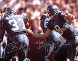 Shaun Alexander and Matt Hasselbeck Seattle Seahawks Autographed Photo (Hand Signed Collectable)