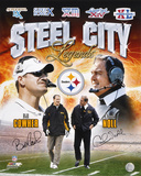 Bill Cowher and Chuck Noll Pittsburgh Steelers - Steel City Legends Collage