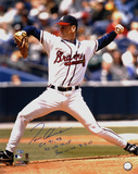 Tom Glavine with CY 91 98  95 WS MVP & 300 Wins 8/5/07 Autographed Photo (Hand Signed Collectable)