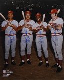 Pete Rose  Johnny Bench  Tony Perez  and Joe Morgan- Big Red Machine with Inscriptions