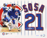 Sammy Sosa Chicago Cubs Collage Autographed Photo (Hand Signed Collectable)