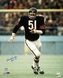 Dick Butkus Chicago Bears  with HOF 79 Inscription