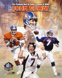 John Elway Denver Broncos  HOF 2004 Collage