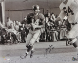 YA Tittle New York Giants with HOF 1971 Inscription Autographed Photo (Hand Signed Collectable)