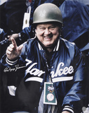 Don Zimmer New York Yankees - Military Hard Helmet with Popeye Inscription