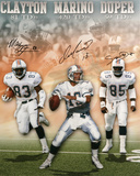 Miami Dolphins - Dan Marino  Mark Duper and Mark Clayton