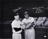 Whitey Ford and Don Newcombe-Black and White  &quot;WE FINALLY BEAT THOSE YANKEES/55 CHAMPS&quot; Inscription