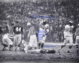 "Chuck Bednarik over Frank Gifford w/ ""HOF 67 / This f… Game is OVER! Sorry Frank"" Inscription"