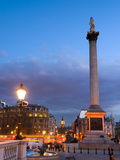 Nelsons Column and Trafalgar Square  London  England  United Kingdom  Europe