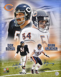 Dick Butkus (HOF 79)  Brian Urlacher Chicago Bears Dual Autographed Photo (Hand Signed Collectable)