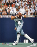 Roger Staubach Dallas Cowboys  with HOF Inscription