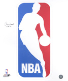 Jerry West Los Angeles Lakers  NBA Logo with The Logo Inscription