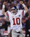 Eli Manning NY Giants SB XLII Ams in Air SB XLII MVP Autographed Photo (Hand Signed Collectable)