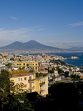 Cityscape and Mount Vesuvius  Naples  Campania  Italy  Europe