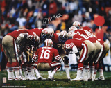 Joe Montana San Francisco 49ers 'Huddle' Autographed Photo (Hand Signed Collectable)