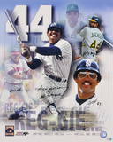 Reggie Jackson - Collage with Four Inscriptions Autographed Photo (Hand Signed Collectable)