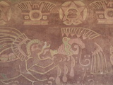 Fresco in a Chamber Off the Jaguar Palace Patio  Archaeological Zone of Teotihuacan  Mexico