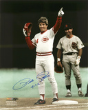 Pete Rose Cincinnati Reds with 4192 Inscription Autographed Photo (Hand Signed Collectable)