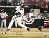 AJ Pierzynski White Sox ALCS Game 2  3rd Strike Autographed Photo (Hand Signed Collectable)