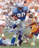 Barry Sanders Detroit Lions Blue Home Jersey Autographed Photo (Hand Signed Collectable)