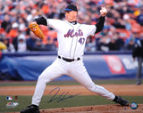Tom Glavine New York Mets - On The Mound Autographed Photo (Hand Signed Collectable)