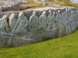 Fishermen's Monument  Peggy's Cove  Nova Scotia  Canada  North America