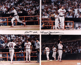 Reggie Jackson California Angels 500th Homerun Autographed Photo (Hand Signed Collectable)