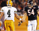 Brett Favre and Brian Urlacher - Action - Dual 16x20 Autographed Photo (Hand Signed Collectable)