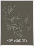 New York City (Charcoal Brown &amp; Silver)