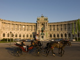 Horse Cart in Front of the Hofburg Palace on the Heldenplatz  Vienna  Austria  Europe