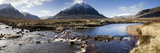 View Across River Etive Towards Snow-Covered Mountains  Rannoch Moor  Near Fort William  Scotland