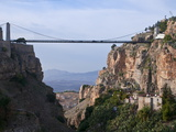 Sidi M'Cid Bridge Over a Huge Canyon  Constantine  Eastern Algeria  North Africa  Africa