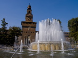 Castle Sforzesco  Milan  Lombardy  Italy  Europe