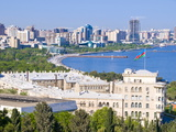 View Over Baku Bay  Baku  Azerbaijan  Central Asia  Asia