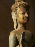Statue of the Buddha  Haw Pha Kaeo  Vientiane  Laos  Indochina  Southeast Asia  Asia