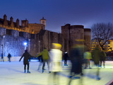 Ice Skating in Winter  Tower of London  London  England  United Kingdom  Europe