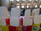 Cheese For Sale in the Covered Bazaar of Yerevan  Armenia  Caucasus  Central Asia  Asia