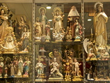 Shop Window of a Religious Articles Shop With Virgins  Angels  and Christ For Sale  Seville