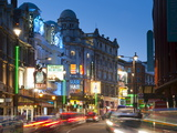 Theatreland in the Evening  Shaftesbury Avenue  London  England  United Kingdom  Europe