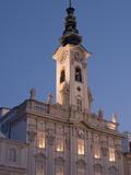 Town Hall (Rathaus) at Twilight  Stadtplatz  Steyr  Oberosterreich (Upper Austria)  Austria  Europe
