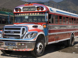 The Colorful Chicken Bus of Guatemala  Antigua  Guatemala  Central America