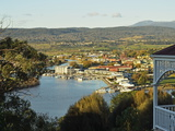 View of Launceston and River Tamar  Tasmania  Australia  Pacific