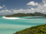 Whitehaven Beach and Hill Inlet  Whitsunday Island  Queensland  Australia  Pacific